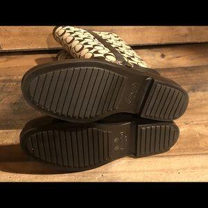 Coach Shoes - Coach Lori Brown Signature Coated ShinyRubberBoots
